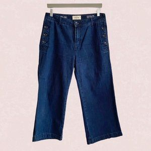Lola Jeans high rise wide leg cropped sailor jeans